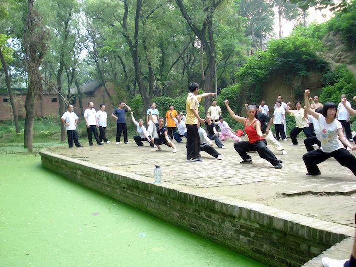 Chenjiagou Zhu Xiangqian Taiji training